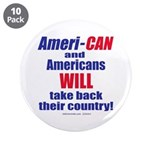 """Take Back America 3.5"""" Button (10 pack)"""
