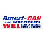 Take Back America (Bumper Sticker)