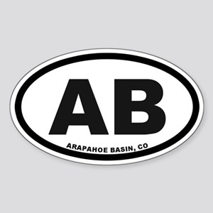 Arapahoe Basin Sticker (Oval)
