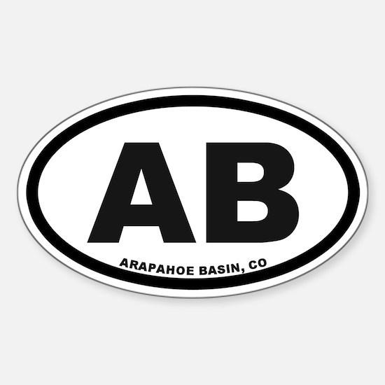 Arapahoe Basin Sticker (Oval)