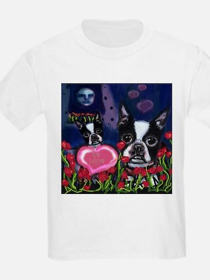 BOSTON TERRIER Valentine Kids T-Shirt