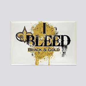 I Bleed Black and Gold Rectangle Magnet