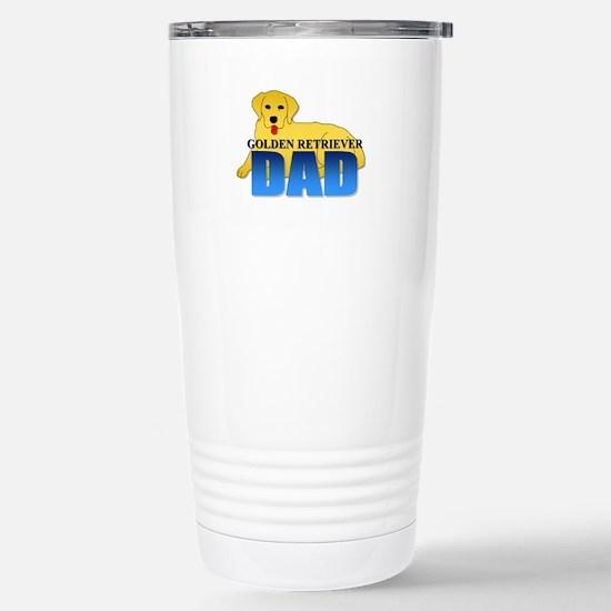 Golden Retriever Dad Stainless Steel Travel Mug