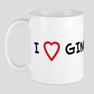 I Love GINGER Mug