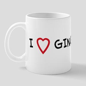 I Love GINGER Mug