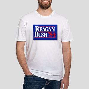 Reagan Bush '84 Fitted T-Shirt