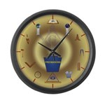 PA Freemasons Large Wall Clock