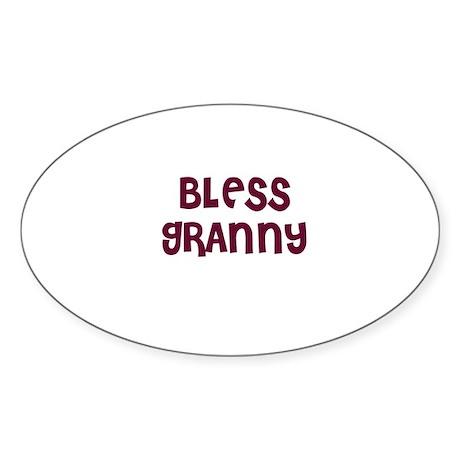 BLESS GRANNY Oval Sticker