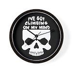 Climbing On My Mind Wall Clock