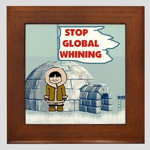 STOP GLOBAL FREEZING Framed Tile