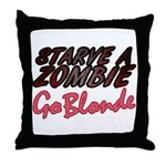 Starve a Zombie Throw Pillow