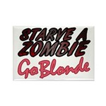 Starve a Zombie Rectangle Magnet