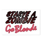 Starve a Zombie Postcards (Package of 8)