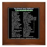Trans Is Beautiful Framed Tile