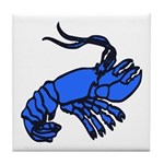 Blue Dutch Crawfish Tile Coaster