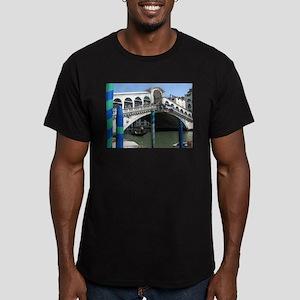 Rialto Bridge Men's Fitted T-Shirt (dark)