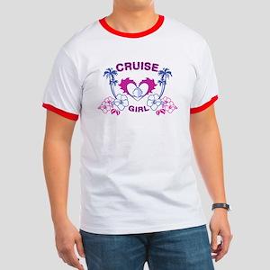 Cruise Girl Ringer T