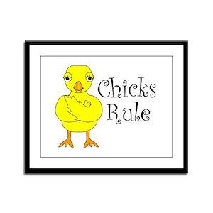 Chicks Rule Framed Panel Print