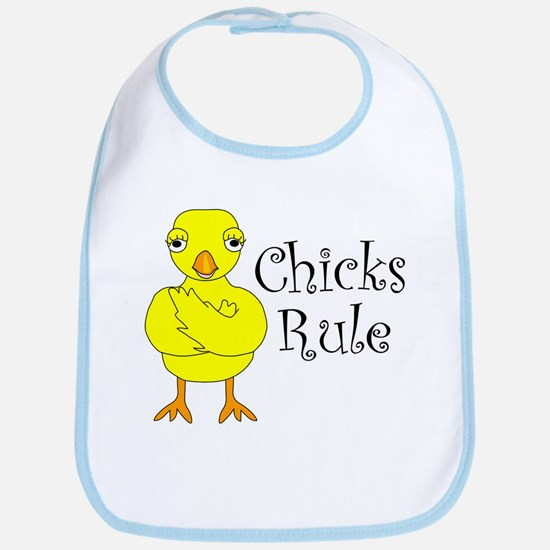 Chicks Rule Bib