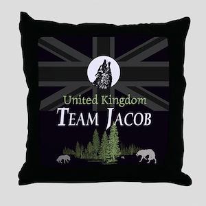 Team Jacob UK Throw Pillow