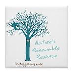Renewable Tree Tile Coaster