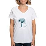 Living Loving Logging Women's V-Neck T-Shirt
