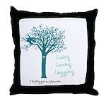 Living Loving Logging Throw Pillow