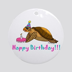 Happy Birthday Ornament (Round)