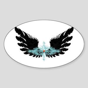 Michael's Wings Sticker (Oval)