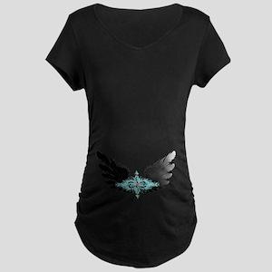Michael's Wings Maternity Dark T-Shirt