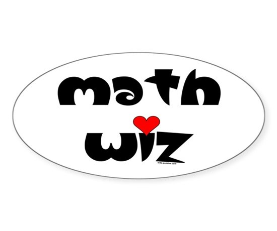 Math wiz sticker oval