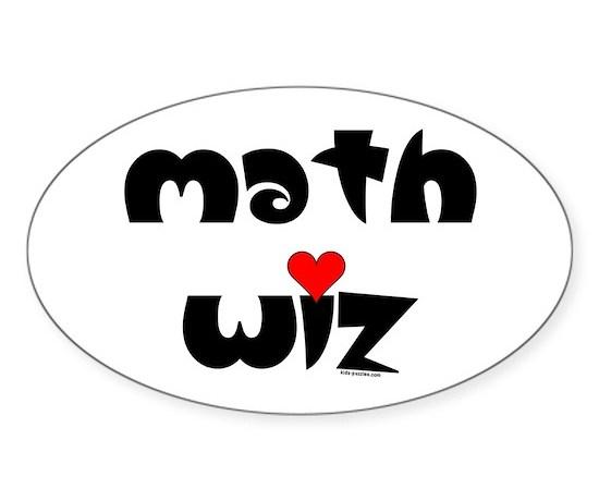 Math wiz sticker oval