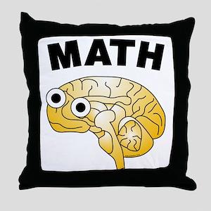 Math Brain Throw Pillow
