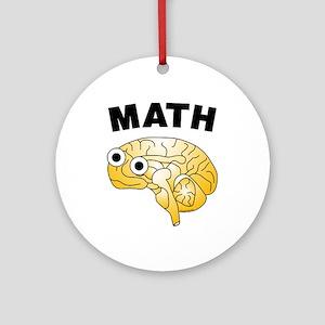 Math Brain Ornament (Round)