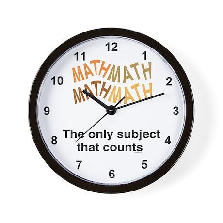 Math Counts Wall Clock
