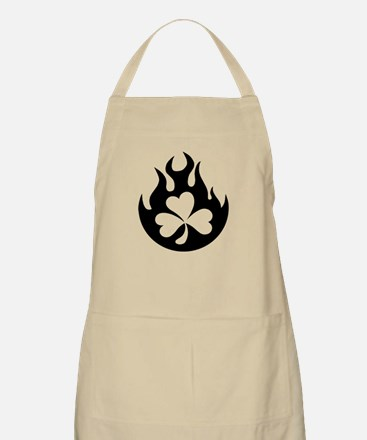 flame and shamrock BBQ Apron