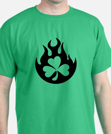 flame and shamrock T-Shirt
