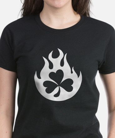 flame and shamrock Women's Dark T-Shirt