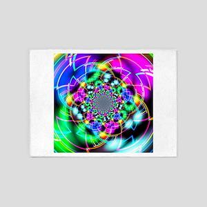 Color Corridor Reflection 5'x7'Area Rug