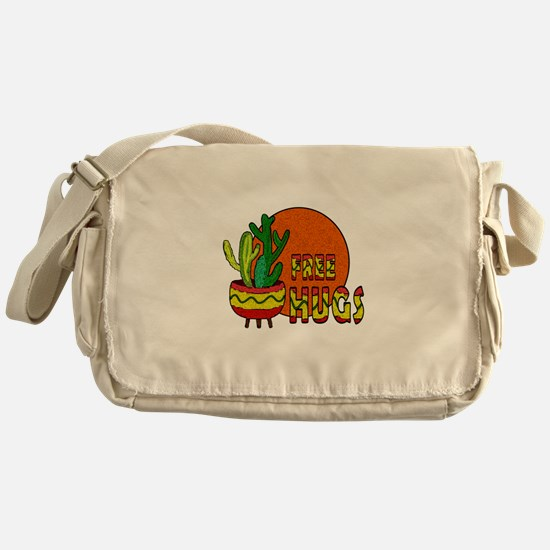 Cactus - free hugs Messenger Bag