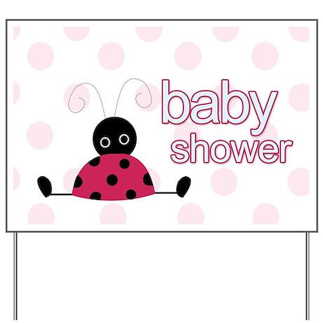 Little Ladybug Baby Shower Yard Sign