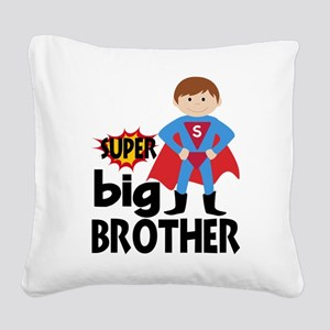 Big Brother Superhero Square Canvas Pillow