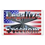 Legalize Freedom Sticker (Rectangle 50 pk)