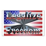 Legalize Freedom Sticker (Rectangle 10 pk)