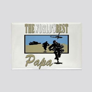 Military Papa Rectangle Magnet