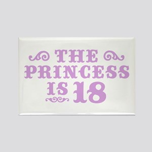 The Princess is 18 Rectangle Magnet