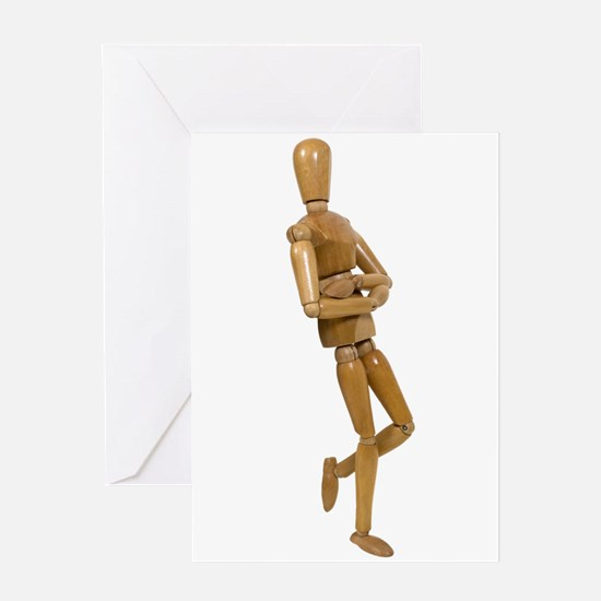 Leaning against a wall Greeting Card