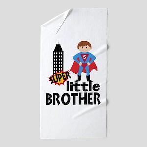 Little Brother Superhero Beach Towel