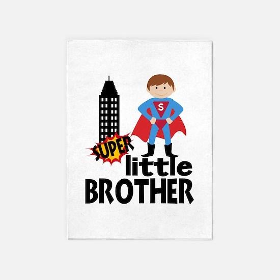 Little Brother Superhero 5'x7'Area Rug