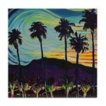 Palm Springs At Night waterco Tile Coaster